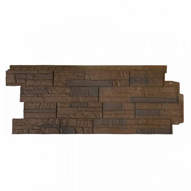 Фасадные панели Grand Line Сланец Элит FPGLS702 Орех