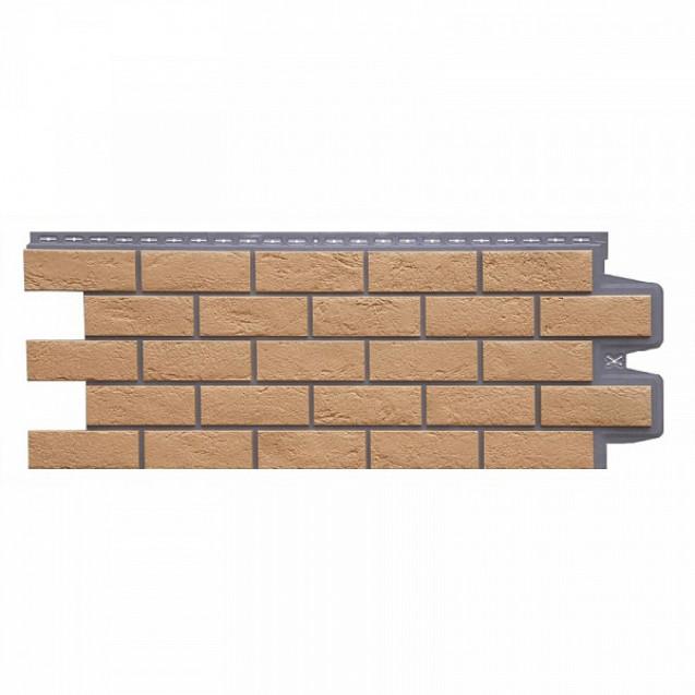 Фасадные панели Grand Line Состаренный кирпич Элит FPGLSK702 Солома