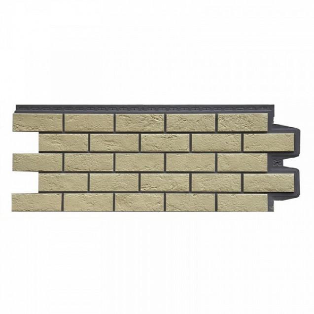 Фасадные панели Grand Line Состаренный кирпич Элит FPGLSK703 Ваниль