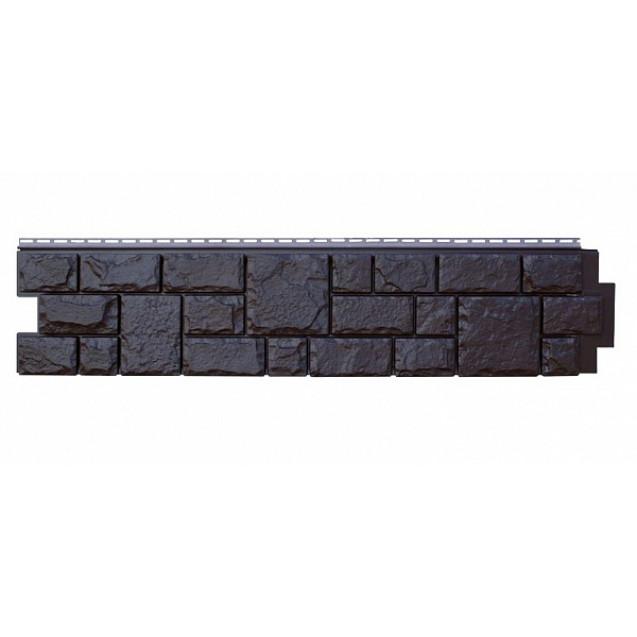 Цокольный сайдинг Я-фасад, Коллекция Екатерининский камень Уголь