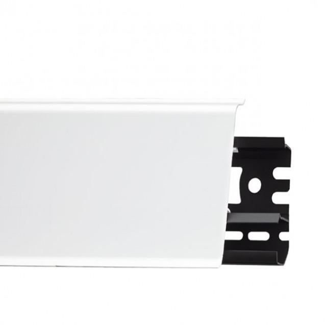 Плинтус напольный пластиковый Идеал белый глянцевый