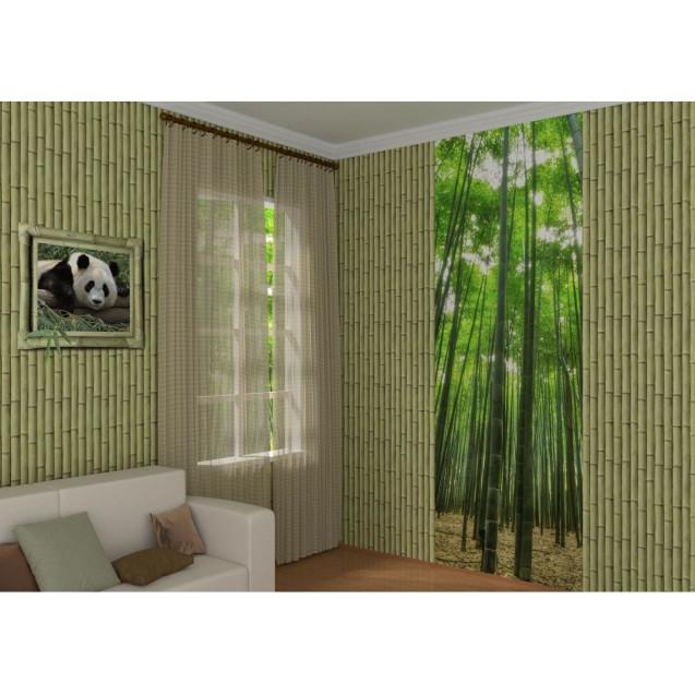 ПВХ панели с цифровой печатью Бамбук оливковый