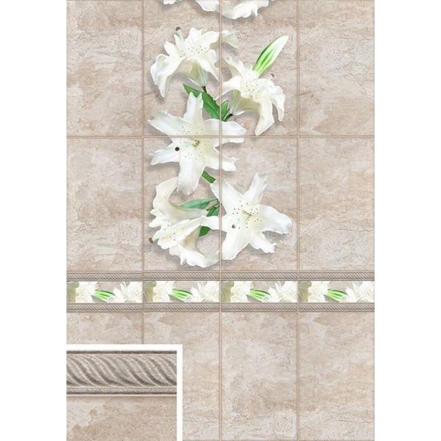 ПВХ панели с цифровой печатью Лилии белые