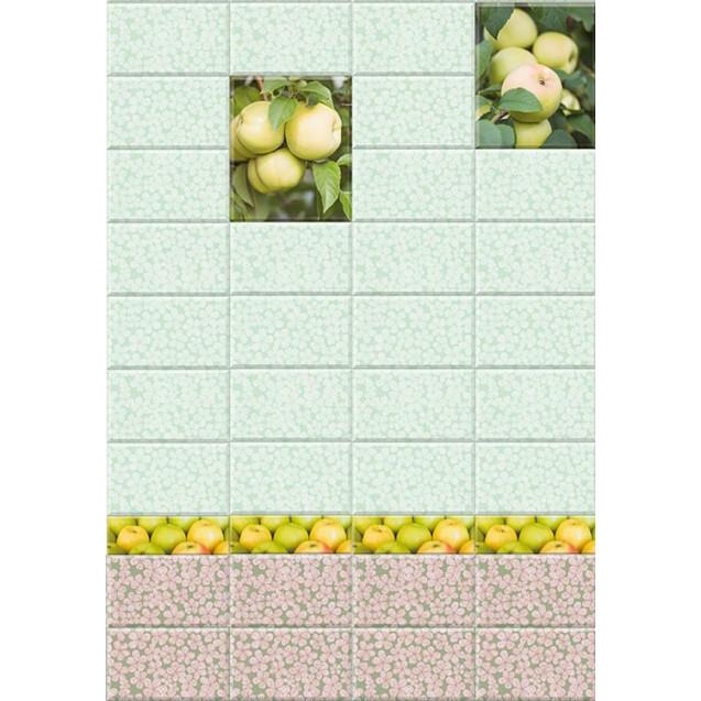 ПВХ панели с цифровой печатью Яблоневый сад зеленый