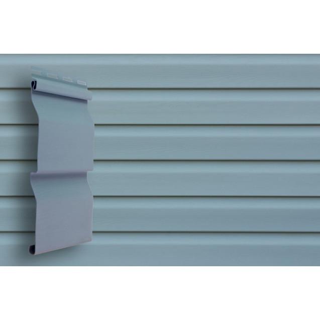 Виниловый сайдинг Grand Line D 4,4 Корабельный брус Классика Голубой