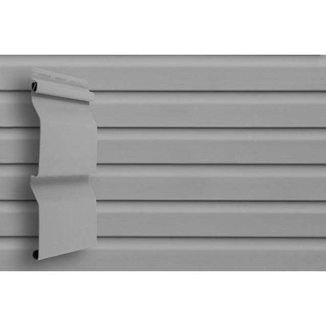 Виниловый сайдинг Grand Line D 4,4 Корабельный брус Классика Серый