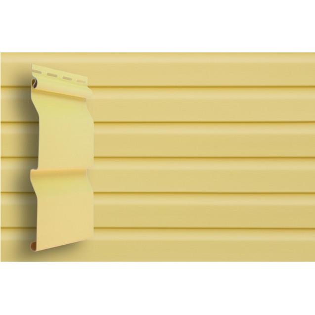 Виниловый сайдинг Grand Line D 4,4 Корабельный брус Классика Золотой песок