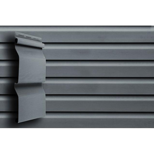 Акриловый сайдинг Grand Line Slim D4 Корабельный брус Графит