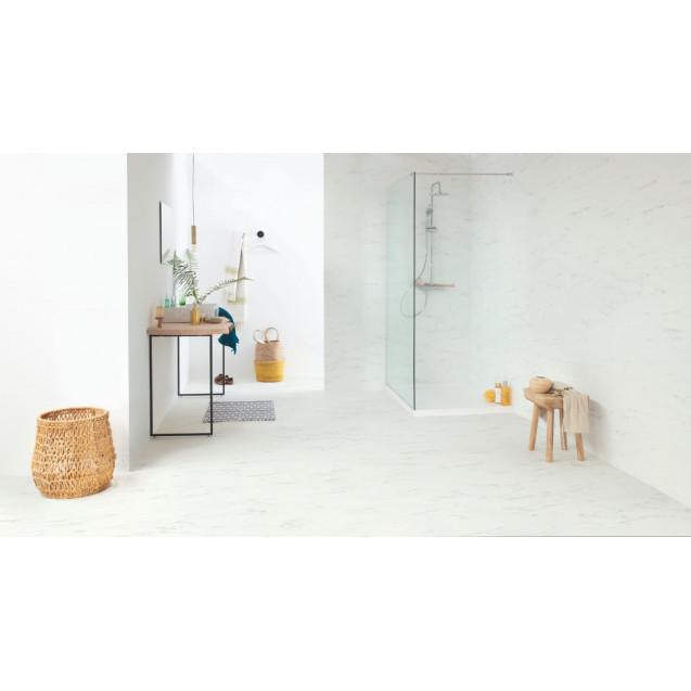 Виниловый ламинат Quick-Step Ambient Click AMCL40136 Мрамор каррарский белый