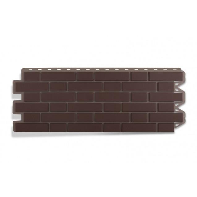 Альта профиль, облицовочный кирпич клинкерный - коричневый