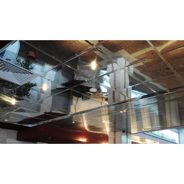Кассетный потолок суперхром