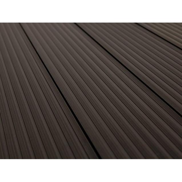 Террасная доска из ДПК Savewood Querqus 4 м, Темно-коричневый