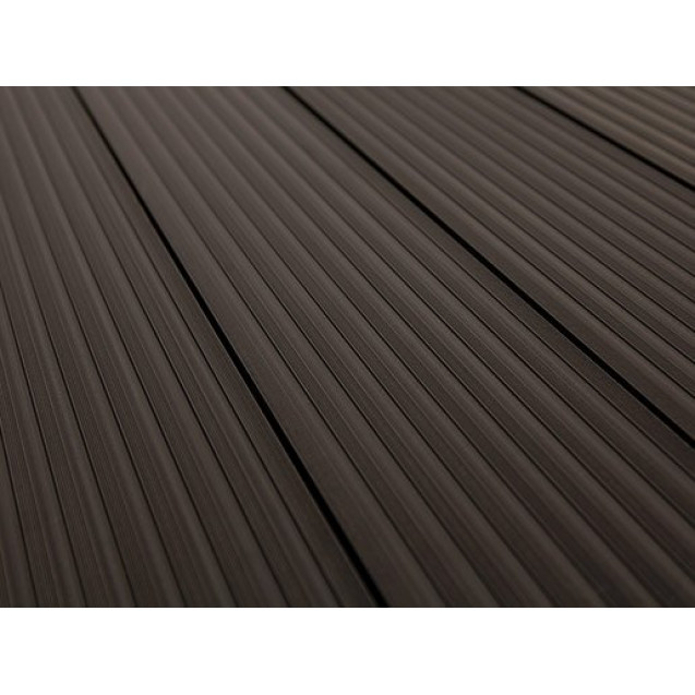Террасная доска из ДПК Savewood Querqus 6 м, Темно-коричневый