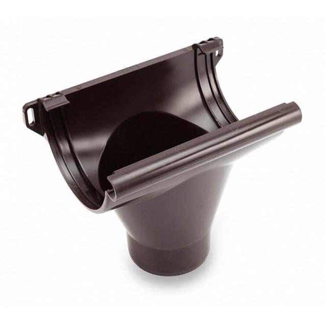 Воронка водосточная 124/90 тёмно-коричневая