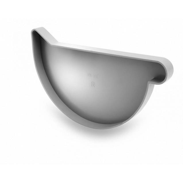 Заглушка левая водосточная 152/100 белая