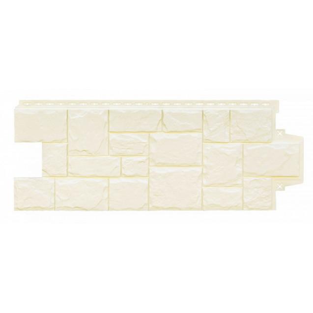 Фасадная панель Грандлайн Камень крупный Молочный